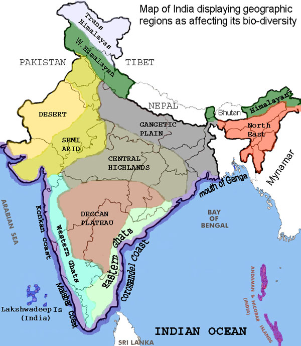 Biological map of India